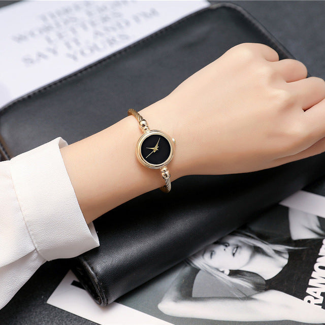 BGG Elegant Ladies Bracelet Watch Women Gold & Silver Strap Simple Design Casual Wrist Quartz Watch female time