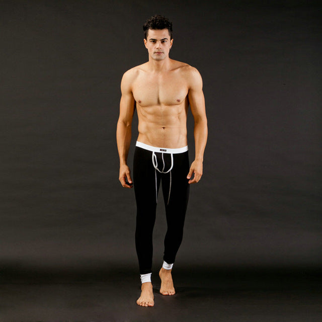 Sexy Tracksuit for Men Solid Pants Men Low Rise Modal Underwear Trousers Long johns Thermal Pants New