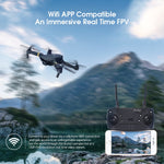 E58 WiFi FPV Foldable RC Quadcopter with Wide Angle 2 MP HD Camera