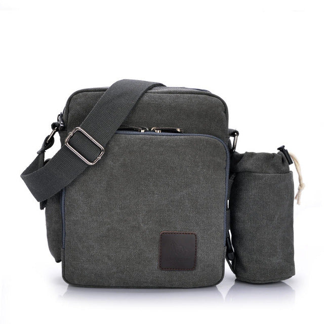 Multi-functional Casual Messenger Bags Men Canvas Leisure Men Shoulder Bags Vintage Small Crossbody Satchel Bag For Men 1092-1