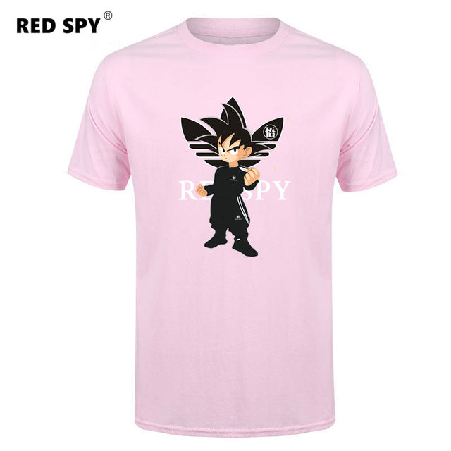 black t shirt men dragon ball shirt tops tees funny anime goku t-shirt men cotton ADI print mens t shirts fashion men's t-shirt