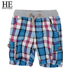 HE Hello Enjoy boys shorts fashion plaid baby boys shorts summer children chothing kids pants trousers boys pants shorts