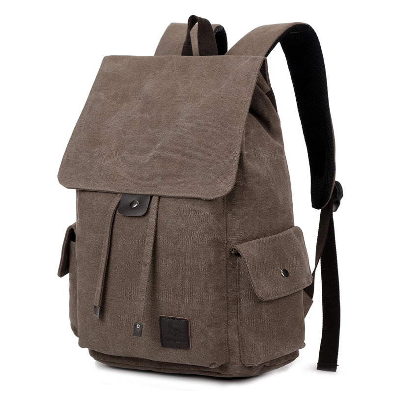 Vintage Men's Canvas Backpack Travel Schoolbag Male Backpack Large Capacity Rucksack Casual Men Laptop Backpack Bag 14 Inch 1264