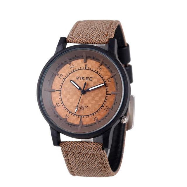 Real Rushed Relogio Masculino Relojes Mujer Watch Men Men's Leather Stainless Steel Military Casual Analog Quartz Wrist