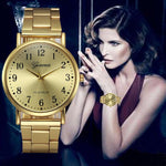 Splendid New Arriavl Fashion Watches Women Crystal Stainless Steel Band Analog Quartz Wrist Watch Mens Dial Watch Clock