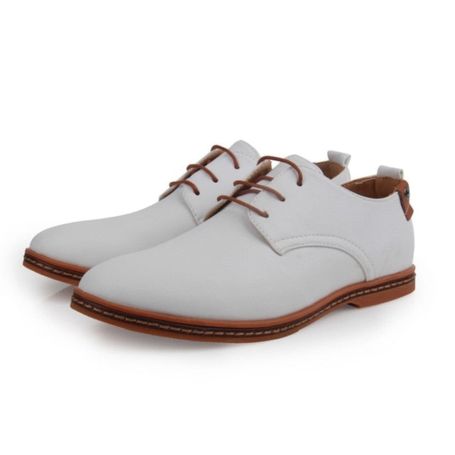 Men's Leather Round Toe Office Shoe