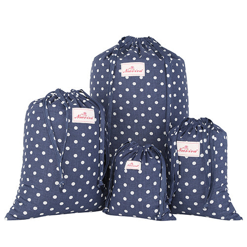 Drawstring | Storage | Travel | Cotton | Polka | Pack | Pink | Size | Kit | Dot | Bag