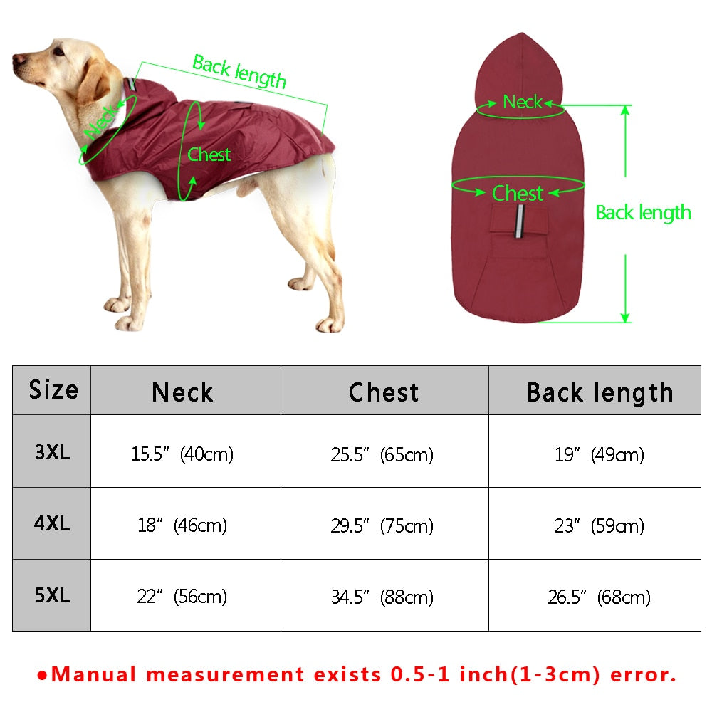 Waterproof Dog Overcoat Outdoor Jacket