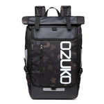 OZUKO Backpack Men's Designer Laptop Backpack High Quality Waterproof large 15.6 Inch Notebook Anti Theft Backpack Men Travel
