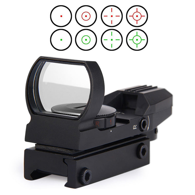 New Rail Riflescope Hunting Airsoft Optics Scope Holographic Red Dot Sight Reflex 4 Reticle Tactical Gun Accessories