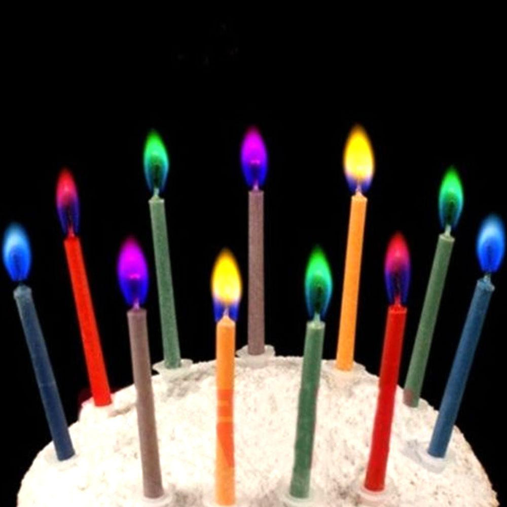 6Pcs Colored Birthday Cake Candles