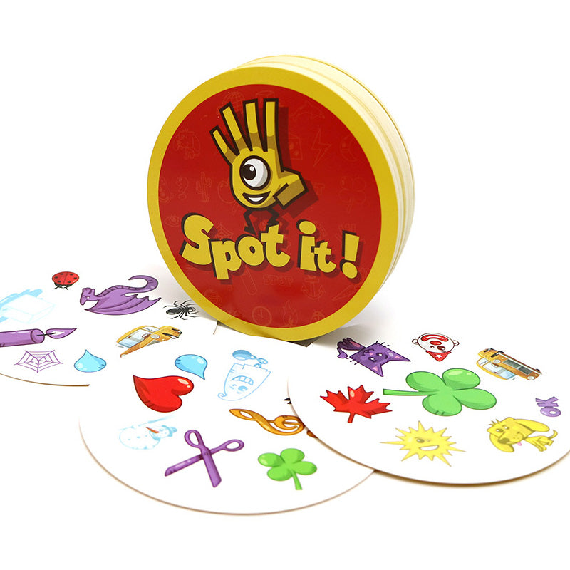 new spot it kids game with English rules high quality paper it for family activities game cards game