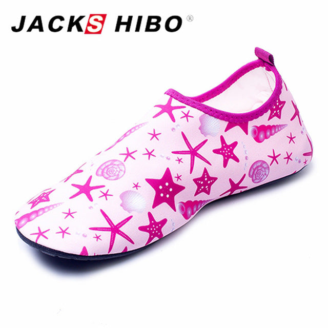 JACKSHIBO Summer Kids Sandals Breathable Child Indoor Socks Barefoot Slippers Aqua Shoes for Children Non-slip Water Socks