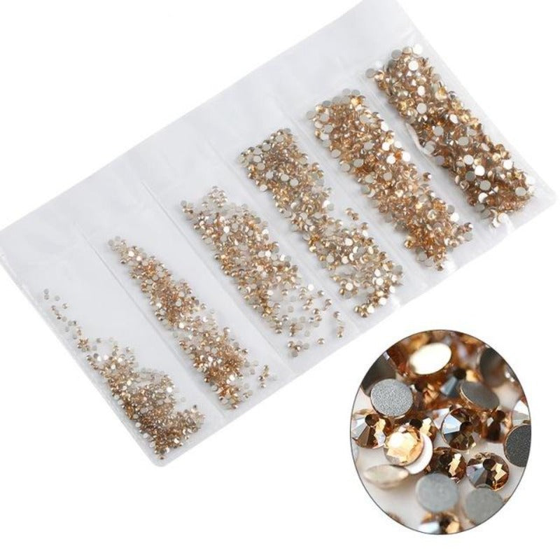 Multi-size 1680pcs Glass Nail Rhinestones For Nails Art Decorations