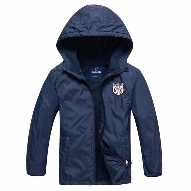 Boy's Waterproof Windproof Winter Jacket with Hood