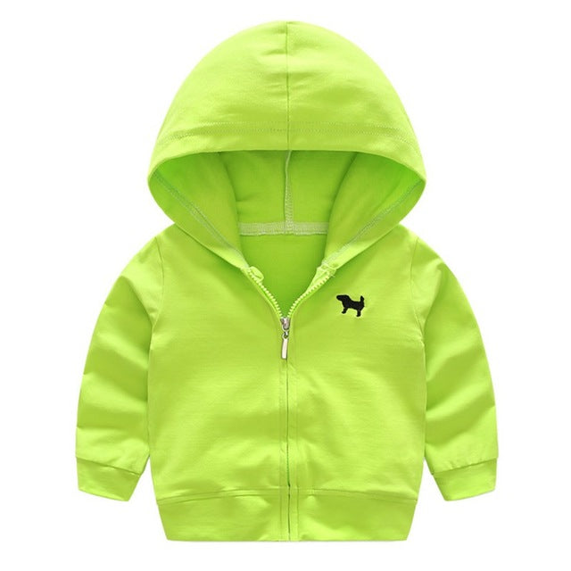 Baby Boys Hoodies Clothes Outwear Long Sleeve Solid Color Fashion Cardigan Jackets Hooded Coat