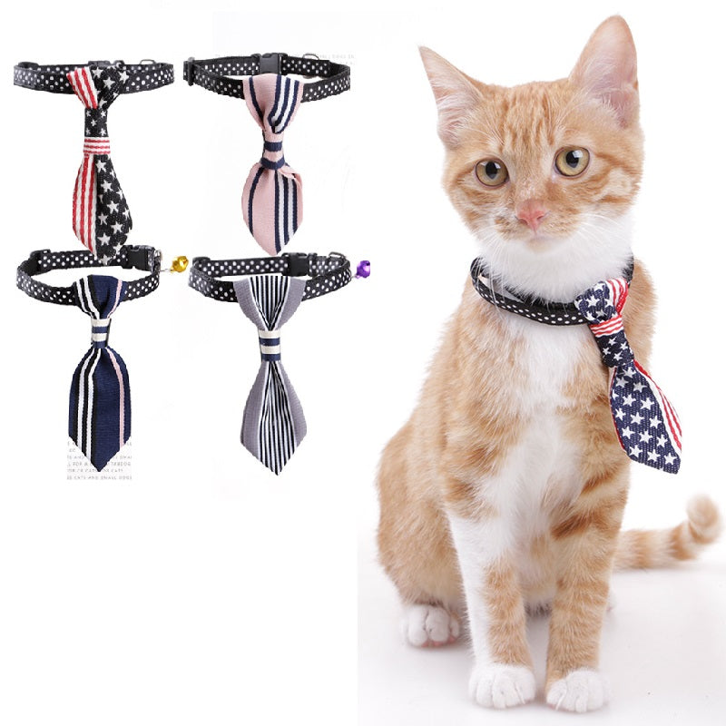Fashion Reflective Collar For Cat Bell Cat Scarf Pet Cat Accessories Dog Cats Collars Necktie Clothes For Kitten Neck Decoration