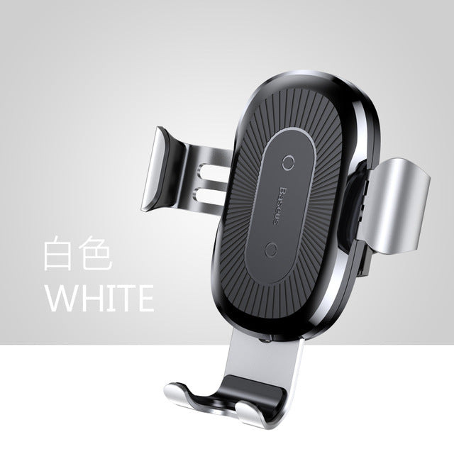 Qi Wireless Fast Charging Cell Phone Car Mount