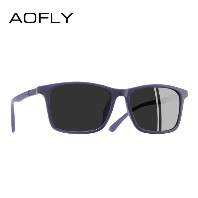 AOFLY BRAND DESIGN Fashion Polarized Sunglasses Men Ultralight TR90 Square Frame Sunglasses Male Driving Goggles UV400 AF8086