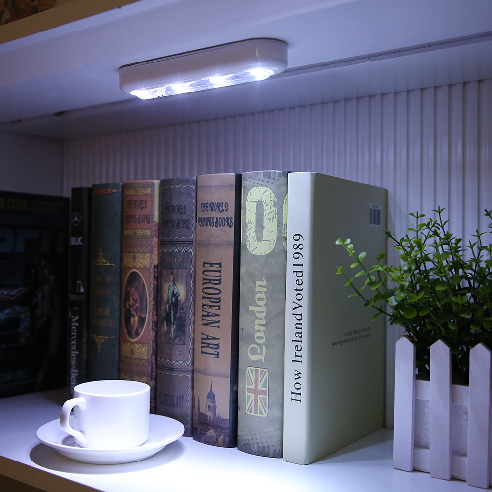 Touch Sensor 4 LED Cabinet Light with Adhesive Stickers
