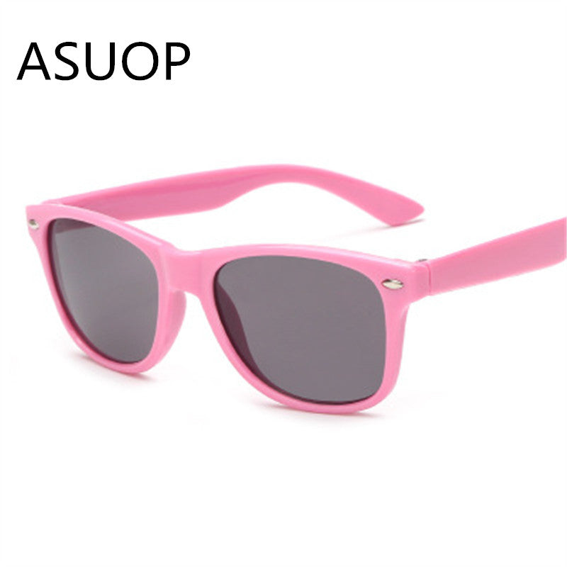 Children's retro cat eye sunglasses boy girl nail nail fashion glasses color safety UV400 color goggles