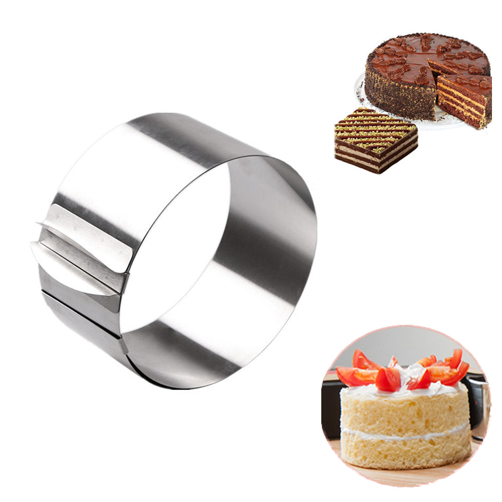 Adjustable Stainless Steel Round Shape Mousse Ring Cake Mold