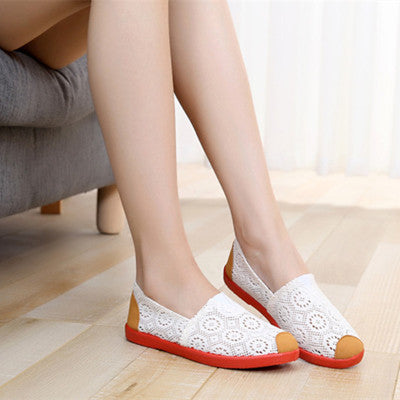 Women's Casual Mesh Breathable Cloth Loafers