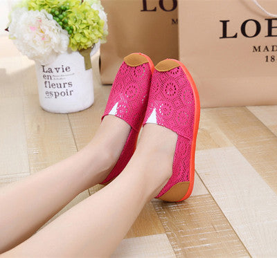BAICLOTHING sapatos women casual mesh breathable cloth loafers female spring and summer black flat shoes lady cute slip on shoes