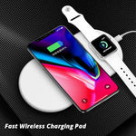 2-in-1 Wireless Quick Pad Charger for Smart Devices