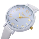 Women's Luxury Fashion Faux Leather Quartz Wrist Watch