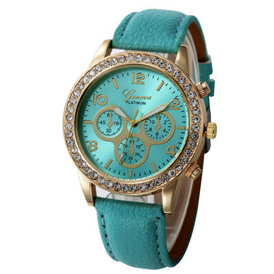 Women New Casual Checkers Faux Leather Quartz Analog Wrist Watch Fashion sport watch Gifts relogio feminino