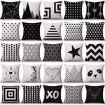 throw pillow case Nordic Style decorative cushion covers Black  Deer pillow case geometric cushion covers for sofa