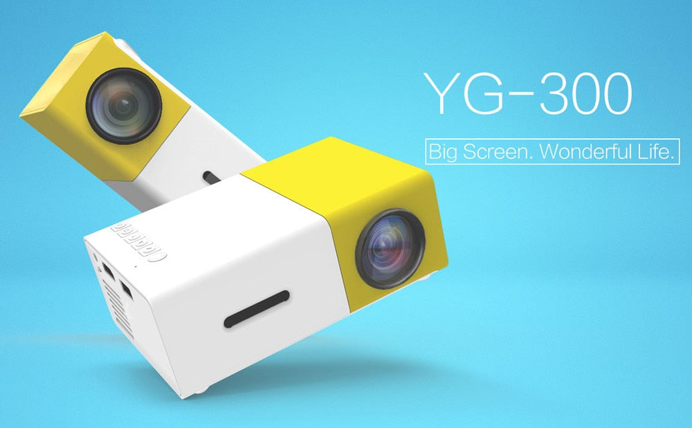 YG300 Mini LCD LED 1080P HD Projector