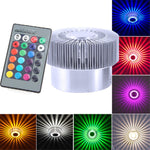 New Colorful RGB Sun Flower LED Self-Adhesive Wall Lamp