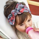 Girls Floral Bow Hairband