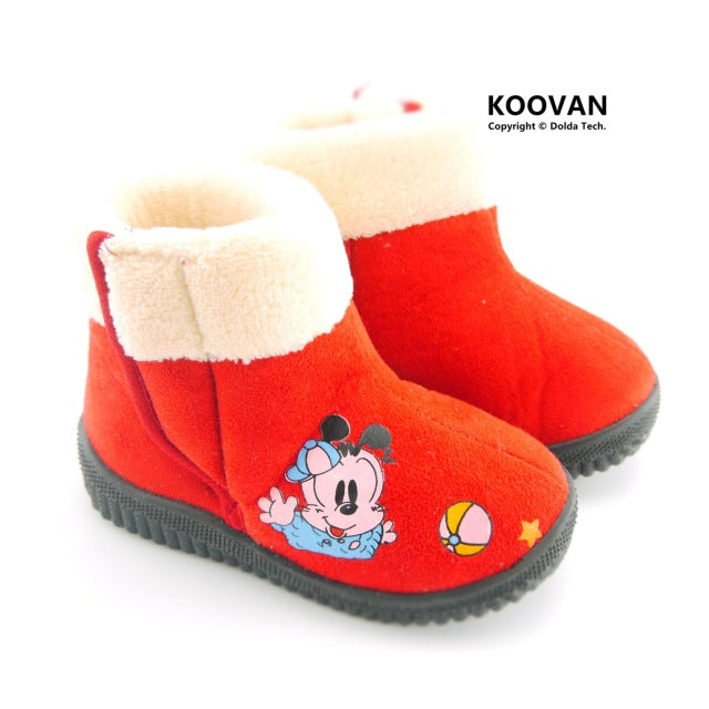 Warm Children Boots Dog Cartoon Girls Snow Boot Boys Girls Kids Rubber Boots Shoes