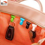 2 Pack: Mini Bag Clip Accessory Keychain Holder