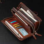 Large Capacity Coin Pocket Leather Wallet
