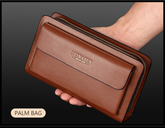 New Business wallet Coin Pocket purse long leather portfolio Large capacity fashion wallets Card Holder Clutch Passport purses