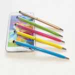 Universal 2-in-1 Microfiber Stylus Pen with Ball Point Pen