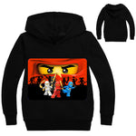 Boys Outwear Ninja Ninjago Hoodies Cartoon Ninjago Costumes Clothes T shirts Children's Sweatshirts For Boys Kids Tops