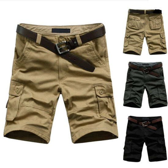 TFGS  Men's Army Cargo Work Casual Bermuda Shorts Men Fashion Overall Trousers Plus size Masculina Beach mma Short