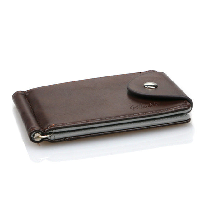 wallet men purse money card vintage pu leather short hasp solid brand bag fashion high quality wallets male Business Card
