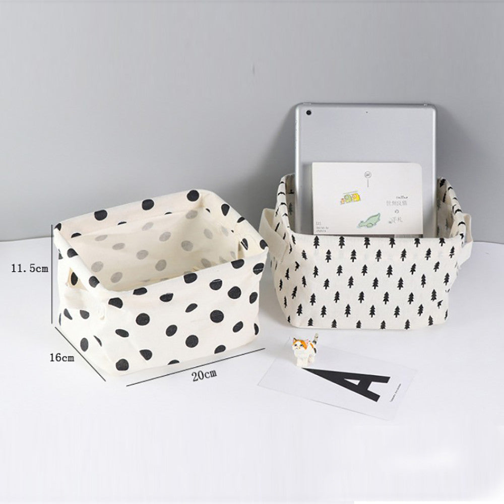 High-Quality Cotton Linen Desktop Storage Basket