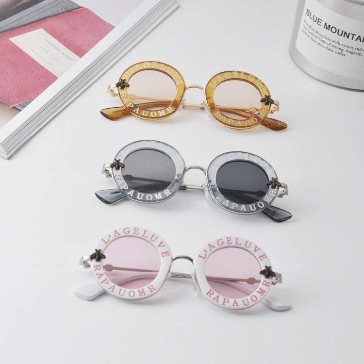 Child NEW designer Kids Round Frame Sunglasses Children Glasses UV400 Baby Summer Eyeglasses Vintage Cute Girl Eyewear