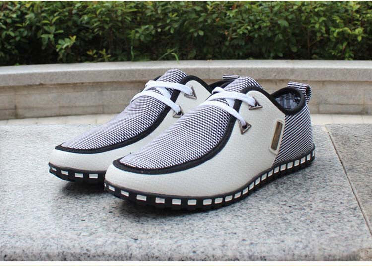 Spring breathable doug men loafers casual shoes increased within  the British fashion lace up male shoe big large size 46