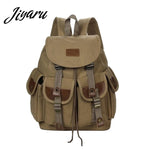Man's Canvas Backpack Mens Travel Rucksack Military Satchel Teenager Boy Girl Vintage School Bag Bookbag Large Capacity
