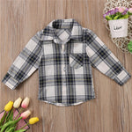 3 Style Baby Plaid Blouse Camo