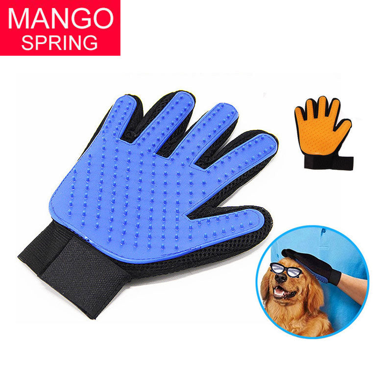 Pet Cleaning Brush Glove Pet Dog Supplies pet Cat dog brush Effective massage gloves hair cleaning comb