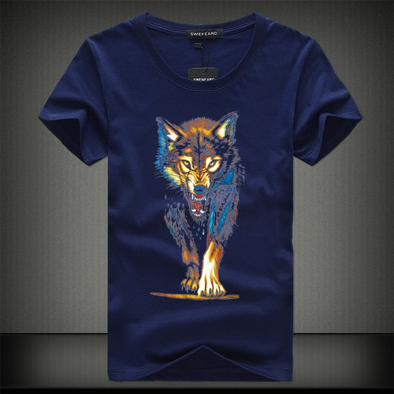 Men's Short-Sleeved Lone Wolf Lazy Tee
